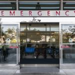 sliding doors in the front of an emergency department