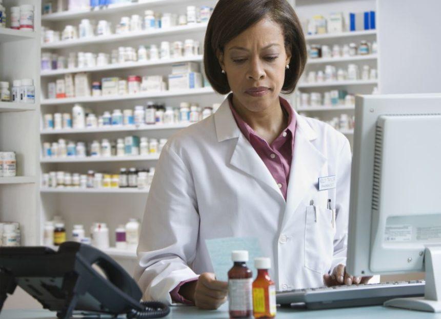 Pharmacist at work