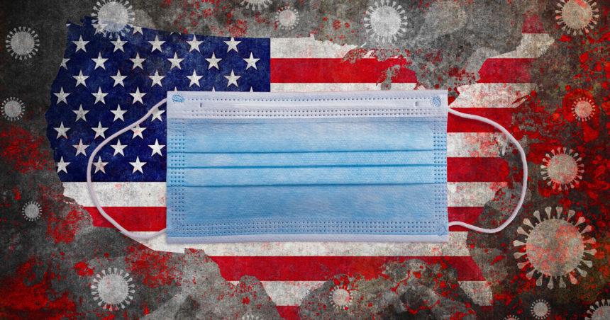mask USA map